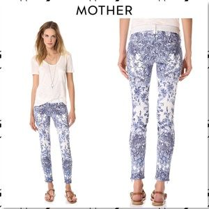 Mother Looker Ankle Zip Jeans My Lady Hot at Hand